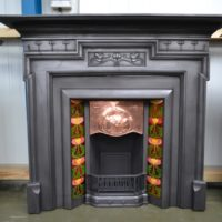 Art Nouveau Cast Iron Surround 3084CS - Oldfireplaces