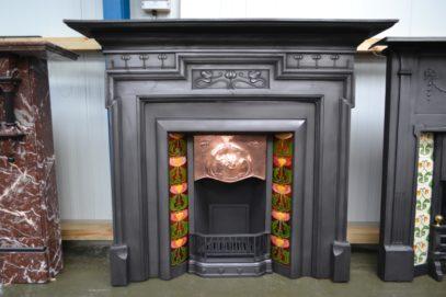 Art Nouveau Cast Iron Surround 3084CS - Oldfireplaces