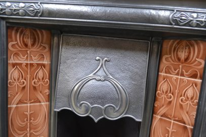 Polished Art Nouveau Tiled Combination Fireplace 3086TC - Antique Fireplace Company