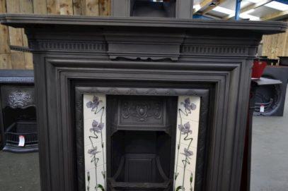 Victorian Cast Iron Fire Surround 3087CS with Cast iron insert 3029I