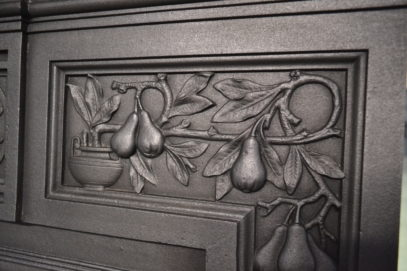 Victorian Fireplace Decorated with Grapes and Pears 3088MC