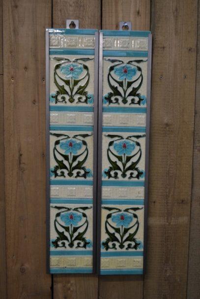 Art Nouveau Fireplace Tiles AN003 Antique Fireplace Company