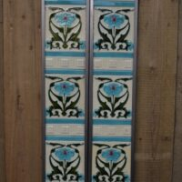 Art Nouveau Fireplace Tiles AN003 Antique Fireplace Company