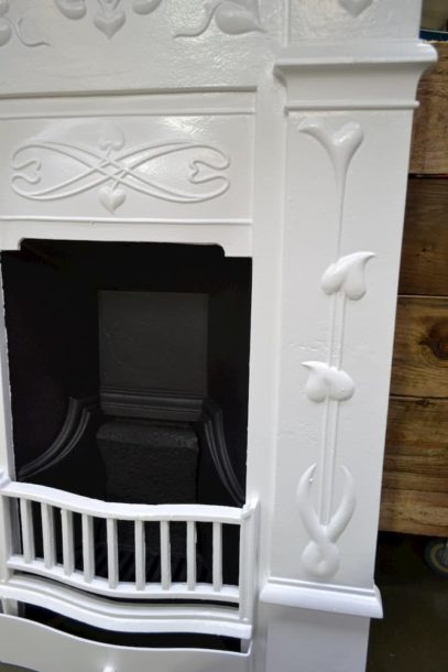 Art Nouveau Fireplace with hearth shaped leaves 3094B - Oldfireplaces