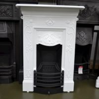 Black & White Art Nouveau Bedroom Fireplace 3095B - Oldfireplaces