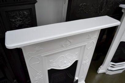 Black & White Art Nouveau Bedroom Fireplace 3095B - Oldfireplaces