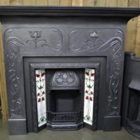Edwardian Art Nouveau Cast Iron Surround 3098CS - Oldfireplaces