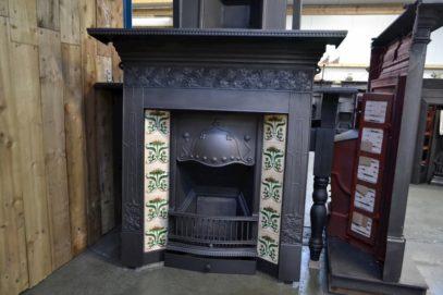 Art Nouveau Tiled Combination with Ivy detail 3099TC - Oldfireplaces