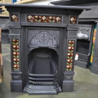Reclaimed Victorian Tiled Fireplace - 4000TC - Antique Fireplace Co
