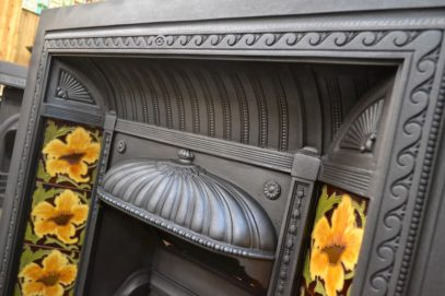 Victorian Tiled Fire Insert 4008TI - Antique Fireplace Company