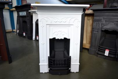 Art Nouveau Bedroom Fireplace Painted 4022B - Oldfireplaces