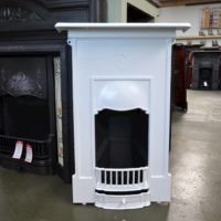 White Art Nouveau Bedroom Fireplace 4024B - Oldfireplaces