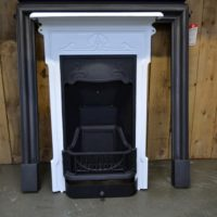 Edwardian Art Nouveau Fireplaces in Black & White 4026B - Oldfireplaces