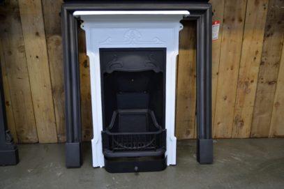 Edwardian Art Nouveau Fireplaces in Black & White 4026B - Oldfireplaces