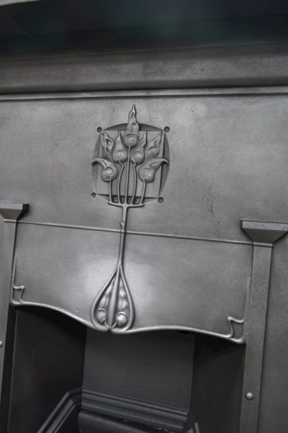 Art Nouveau Fireplace Combination 4028LC - Oldfireplaces