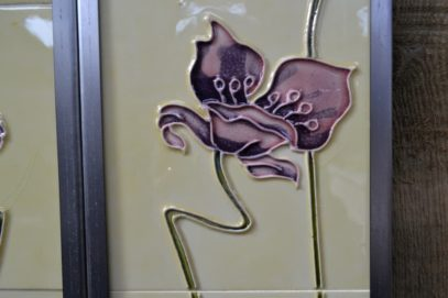 Jazz Purple Reproduction Fireplace Tiles R008 - Oldfireplaces