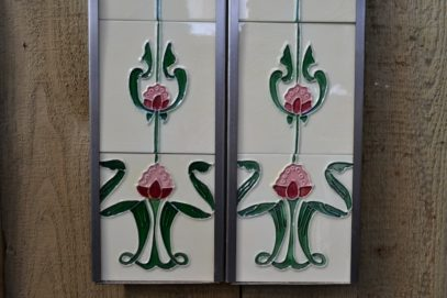 Pink Tulip Reproduction Fireplace Tiles R016 - Oldfireplaces