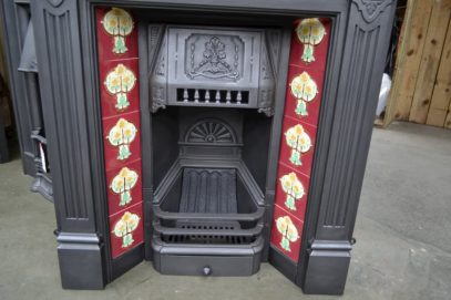 Late Victorian Tiled Combination Fireplace 4033TC - Oldfireplaces