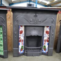 Art Nouveau Combination Fireplace 'The Vienna' 4046TC - Oldfireplaces