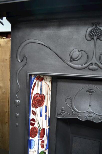 Art Nouveau Combination Fireplace 'The Vienna' 4046TC - Oldfireplaces