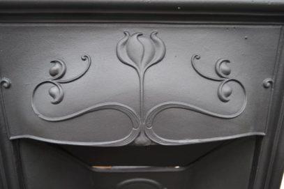 Painted Art Nouveau Fireplace 4032MC - Oldfireplaces