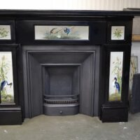 Victorian Black Marble Fire Surround 1794MS - Oldfireplaces