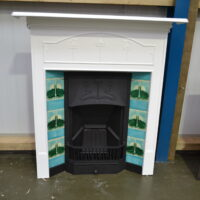 Art Nouveau Tiled Fireplace Painted 4059TC – Oldfireplaces