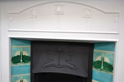 Art Nouveau Tiled Fireplace Painted 4059TC - Oldfireplaces