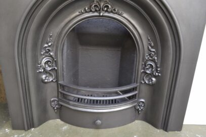 Large Victorian Arched Insert 4087AI - Oldfireplaces