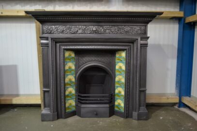 Original Arts & Crafts Cast Iron Surround 4096CS - Oldfireplaces
