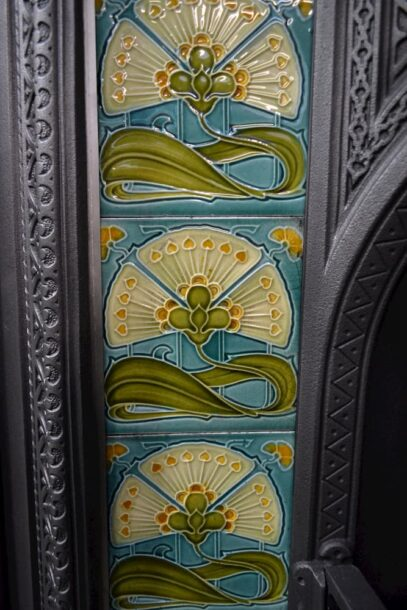 Art Nouveau Fireplace Tile Set AN001 - Oldfireplaces