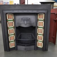 Reclaimed Edwardian Tiled Insert 4111TI - Oldfireplaces