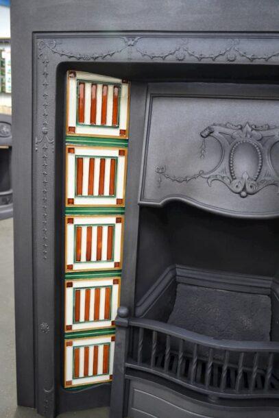 Reclaimed Edwardian Tiled Insert 4111TI - Oldfireplaces