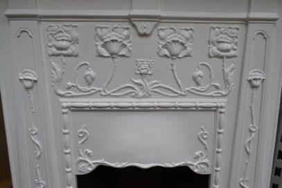 Original Art Nouveau Bedroom Fireplace 4102B - Oldfireplaces