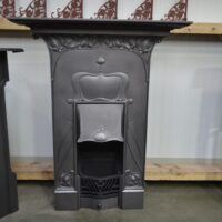 Original Art Nouveau Cast Iron Fireplace 4140MC - Oldfireplaces