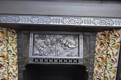 Arts & Crafts Tiled Insert 4160TI - Oldfireplaces