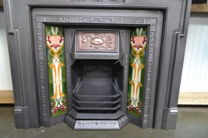 Victorian Tiled Inserts with copper hood 4164TI - Oldfireplaces