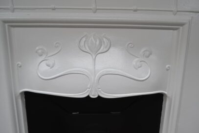 Painted Art Nouveau Tulip Bedroom Fireplace 4183B - Oldfireplaces