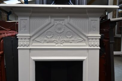 Painted Victorian Daisy Bedroom Fireplace 4184B - Oldfireplaces