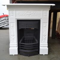 Painted Victorian Cast Iron Fireplace 4189MC - Oldfireplaces