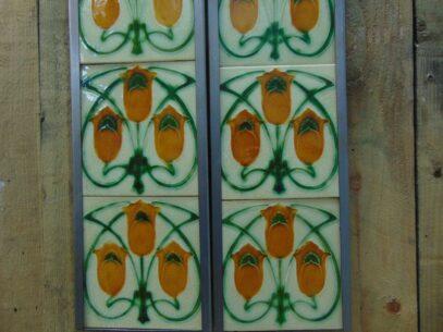Art Nouveau Fireplace Tiles - AN005 Oldfireplaces