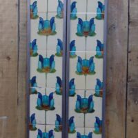 Original Art Nouveau Fireplace Tiles - AN011 Oldfireplaces