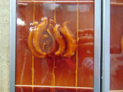 Art Nouveau Fireplace Tiles - AN013 Oldfireplaces
