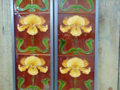 Art Nouveau Fireplace Tiles - AN016 Oldfireplaces