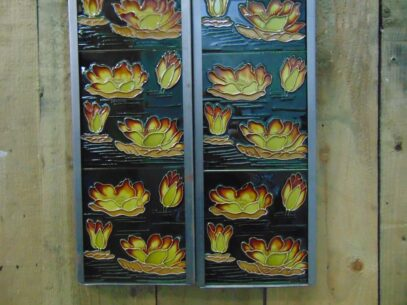 Reproduction Water Lily Fireplace Tile - R067 Oldfireplaces