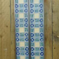 Reproduction Blue Floral Tile - R068 Oldfireplaces