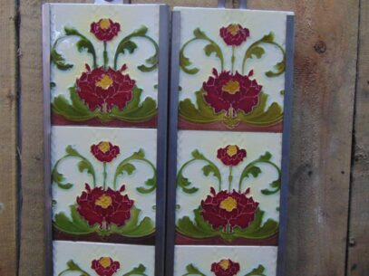 Victorian Fireplace Tiles - V019 Oldfireplaces