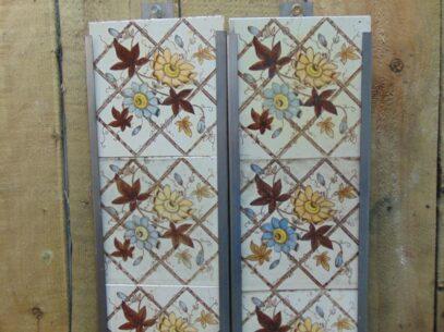Original Victorian Fireplace Tiles - V020 Oldfireplaces