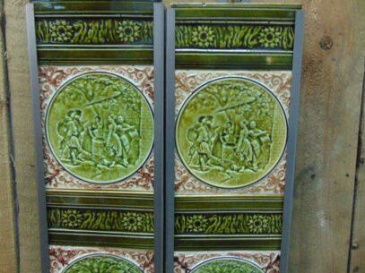Original Victorian Fireplace Tiles - V024 Oldfireplaces