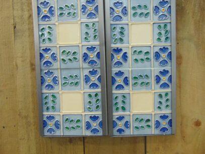 Reproduction Blue Floral Tile - R068 Oldfireplaces